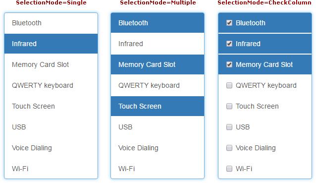 List Box   ASP NET Core Bootstrap Controls   DevExpress Help