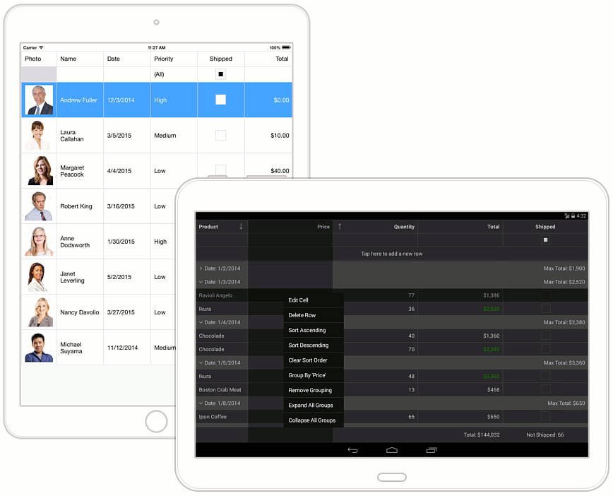 Grid | Xamarin Controls | DevExpress Help