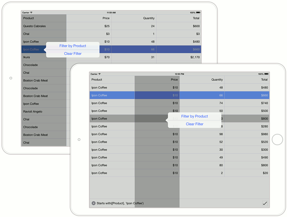 How to: Customize Popup Menu   Grid   Xamarin Controls
